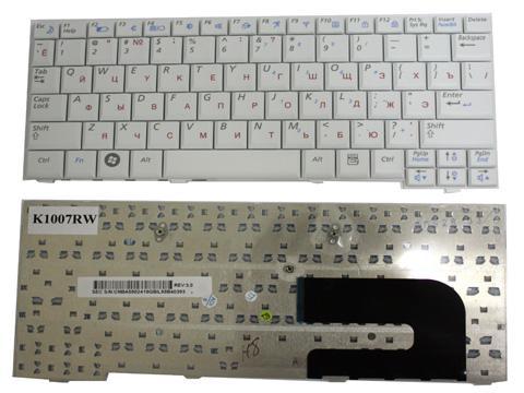 Клавиатура (KEYBOARD) для ноутбука Samsung NC10, NC-10, ND10, ND-10 белая, руссифицированная