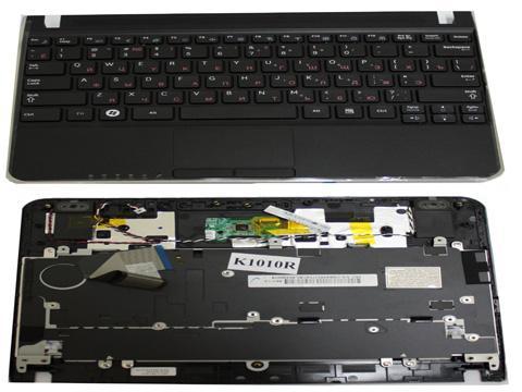 Клавиатура (KEYBOARD) для ноутбука Samsung N220 в сборке с тачпадом. Русифицированная. Цвет чёрный