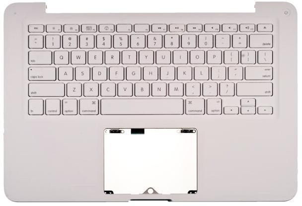 Верхняя часть корпуса для Apple MacBook A1342 White c клавиатурой