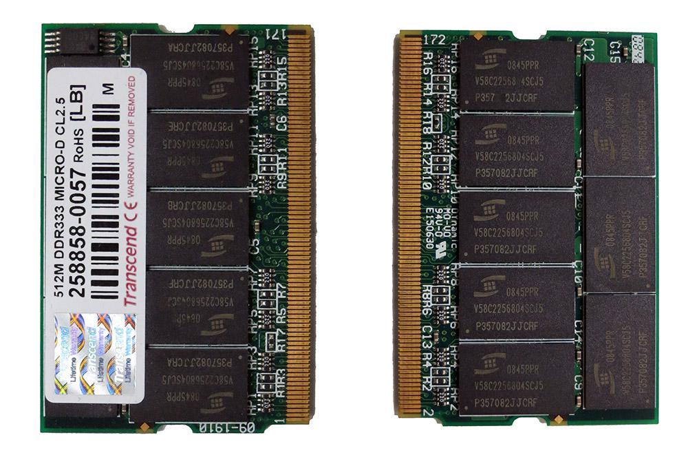 Оперативная память Transcend 512mb DDR333 Micro-Dimm cl 2.5