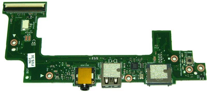 Плата с разъемами Asus X101CH
