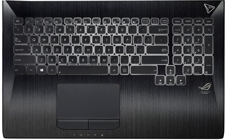 Клавиатура для ноутубка Asus G750JW G750GX с верхней панелью (RU)