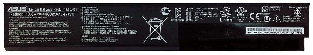 Аккумуляторная батарея для ноутбука ASUS A32-X401 X301, X401, X501 10.8V 4400mAh, 47Wh