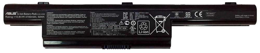 Аккумуляторная батарея для ноутбука ASUS A32-K93 K93, K95 10.8V 4700mAh