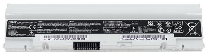 Аккумуляторная батарея для ноутбука ASUS A32-1025 1025,1225 10.8V 5200mAh, 56Wh Белая