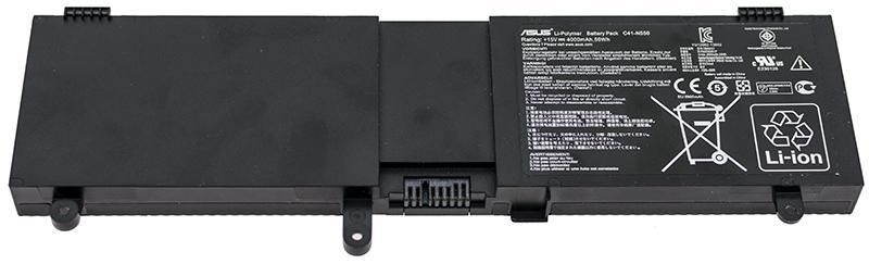 Аккумуляторная батарея для ноутбука C41-N550 N550 15.0V 4000mAh, 59Wh