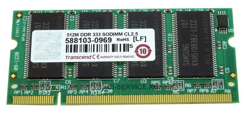 Оперативная память DDR333 512mb SoDimm