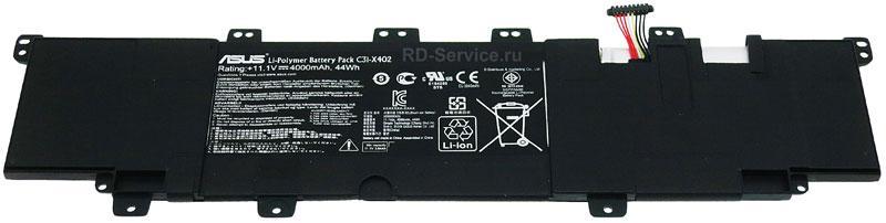 Аккумуляторная батарея для ноутбука  Asus VivoBook S300CA S400CA, S500CA   C31-X402 11,1v 4000mAh 44wh