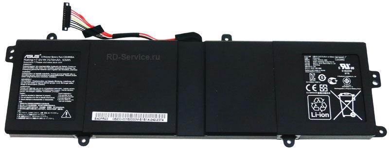 Аккумуляторная батарея для ноутбука  Asus BU400V C22-B400A 7,5v 7070mAh 53wh
