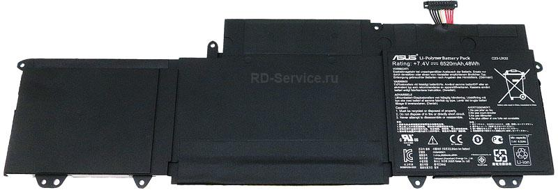 Аккумулятор (батарея) для ноутбука  Asus UX32A, UX32VD U38N C23-UX32 7,4v 6520mAh 48wh