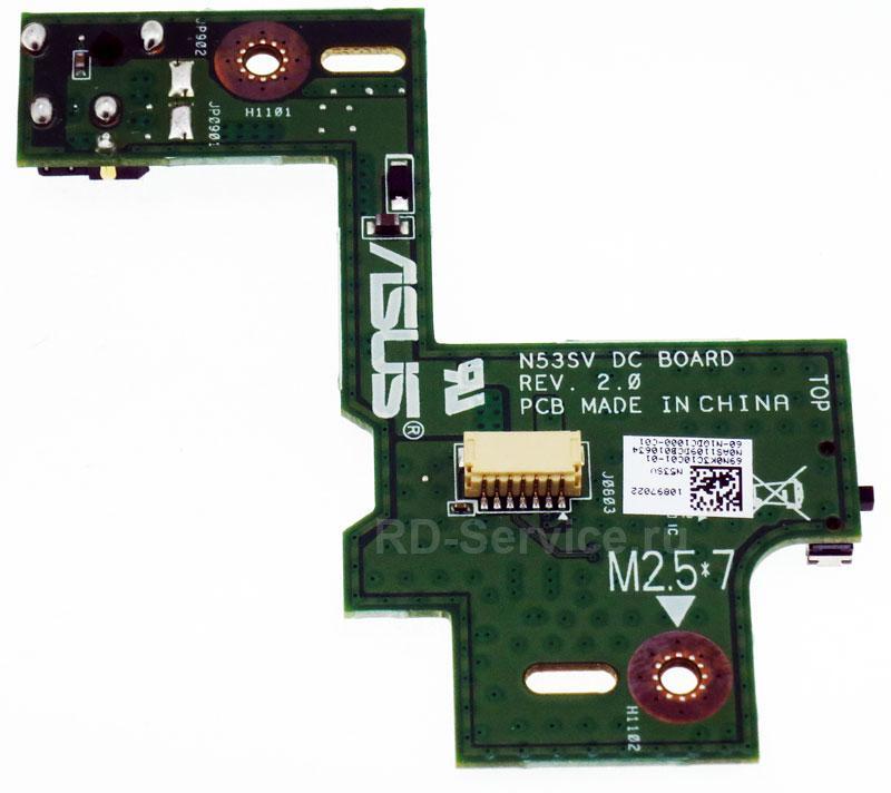 Плата питания Asus N53SV (модуль) N53 N53S N53J N53TA N53TK N53SM N53DA N53SL N53SN N53JG N53SV N53JN N53JF N53JQ