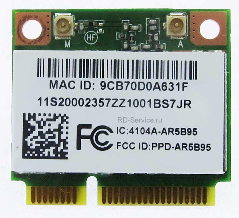 WiFi модуль для ноутбука  Lenovo PPD-AR5B95