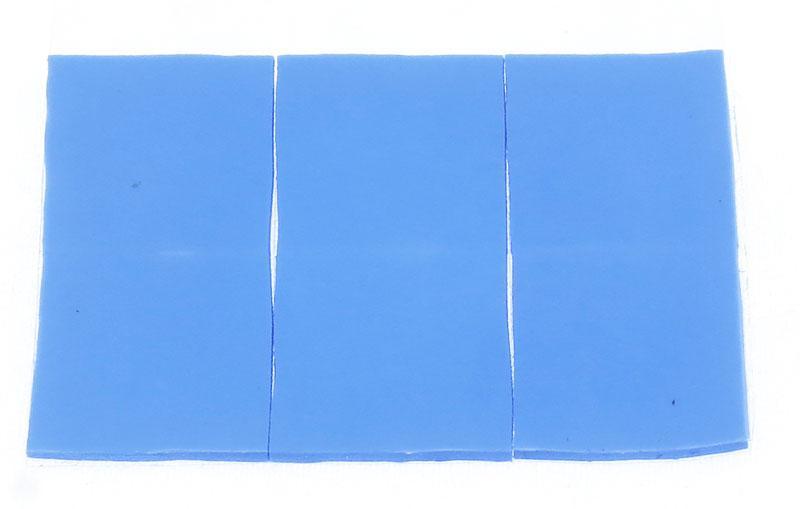 Термопрокладка силиконовая 15х15х1мм 6шт