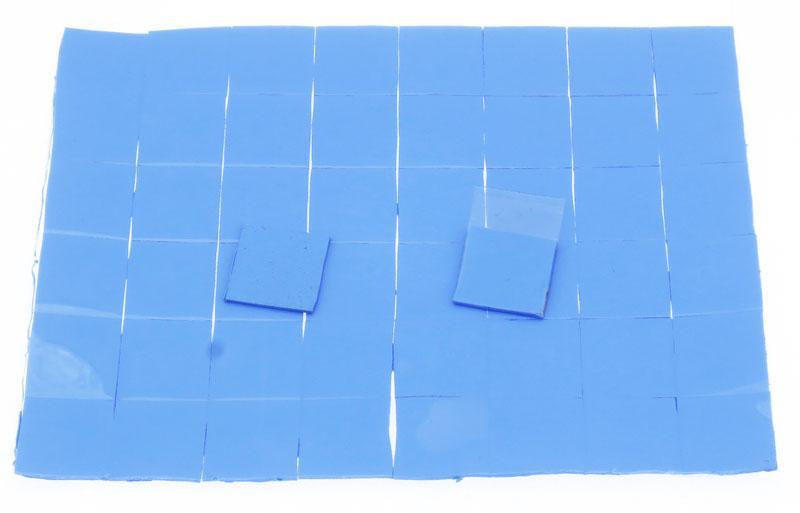 Термопрокладка силиконовая 15х15х2мм 50шт