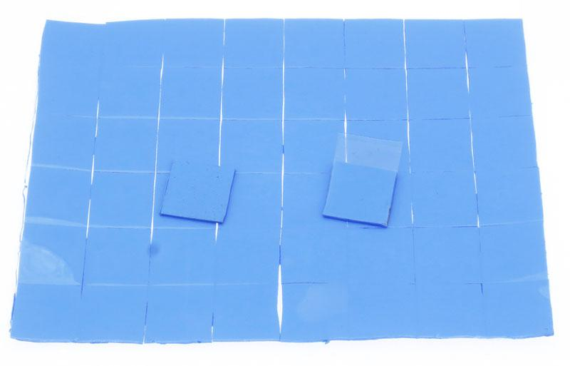 Термопрокладка силиконовая 15х15х0,5мм 50шт