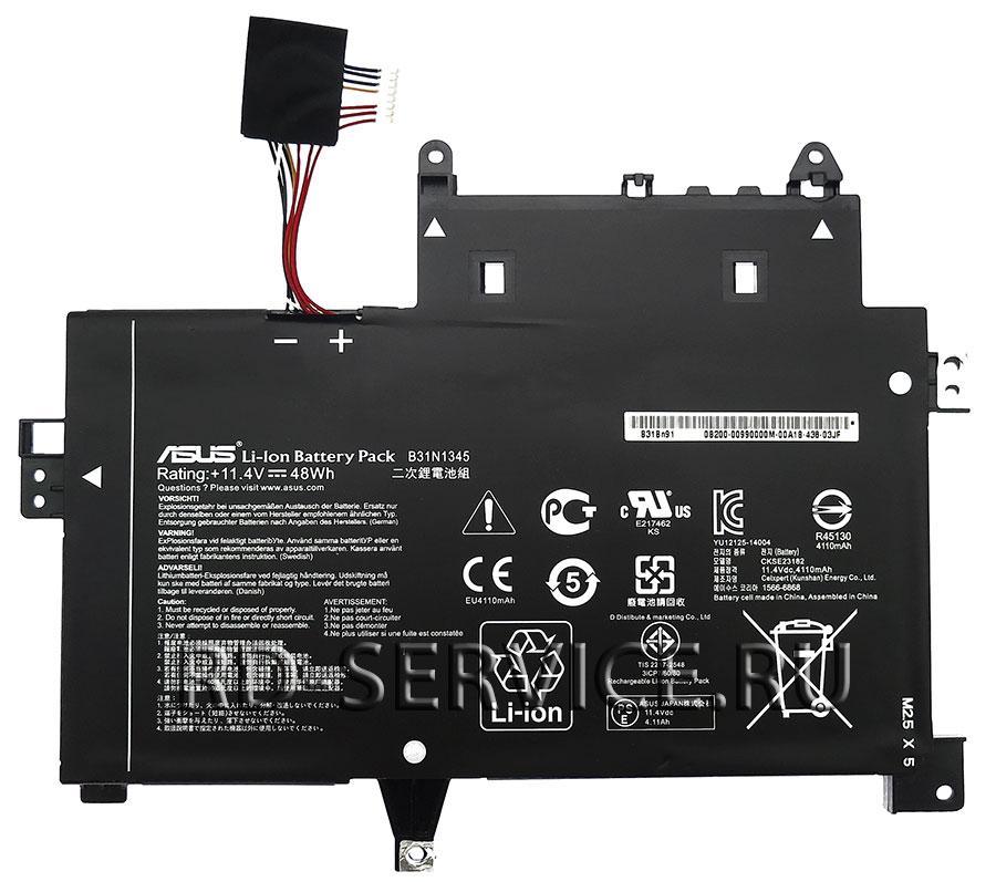 Аккумуляторная батарея B31N1345 для ноутбука  Asus TP500LN 11,4v 4110mAh, 48Wh
