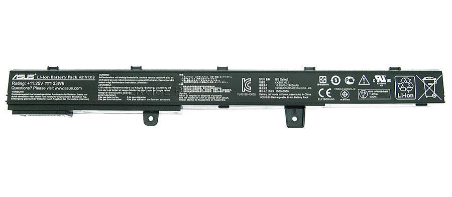 Аккумулятор (батарея) для ноутбука Asus A31N1319  2850 mAh