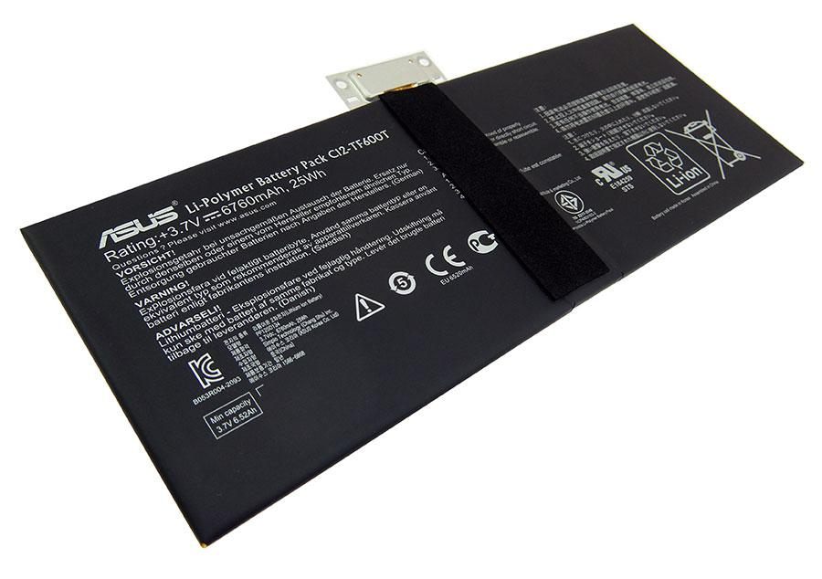 Аккумуляторная батарея C12-TF600T для ноутбука Asus VivoTab TF600T 3,7v 6760mAh, 25Wh