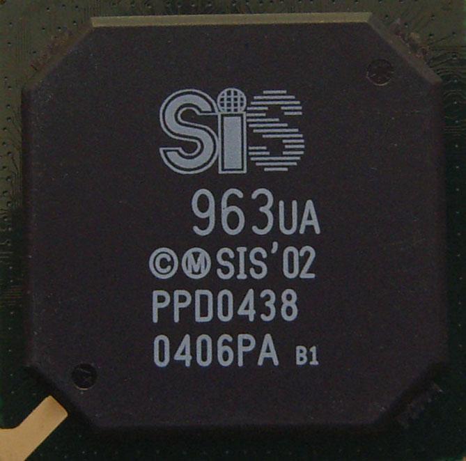 Микросхема для ноутбуков SiS 963ua (южный мост)