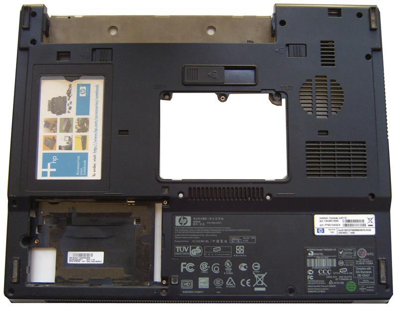 Нижняя часть корпуса для ноутбука HP Compaq nx610 BOTTOM CASE