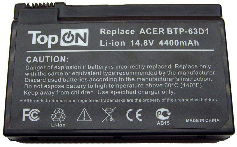 Аккумуляторная батарея для ноутбука Aspire 3020, 3021, 3023, 3025, 3610 Series, 3612, 3613, 3614