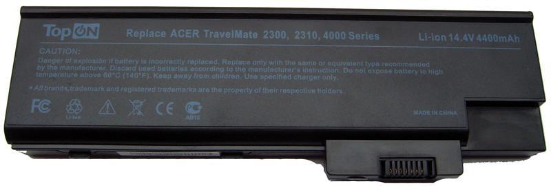 Аккумуляторная батарея для ноутбука Acer Aspire 1410, 1640, 1650, 1680, 1690, 3000, 3500, 5000, 5510