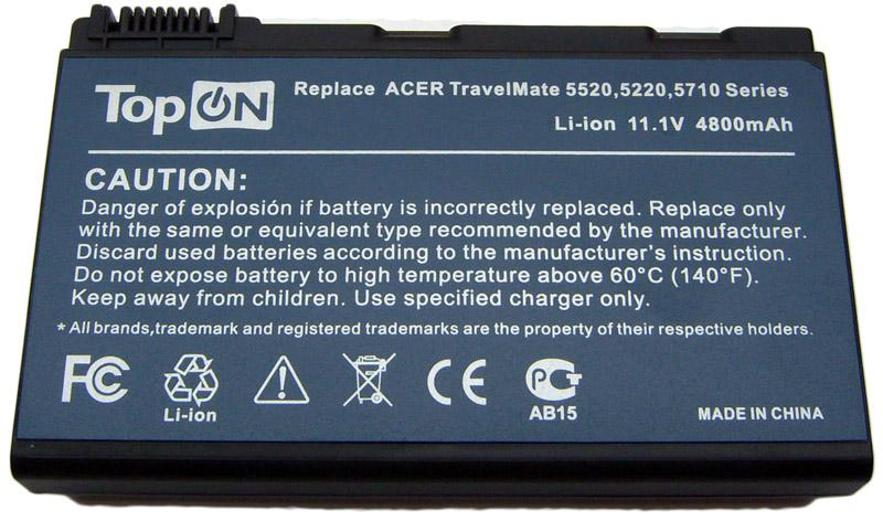 Аккумулятор для ноутбука Acer TravelMate 5220, 5310, 7220