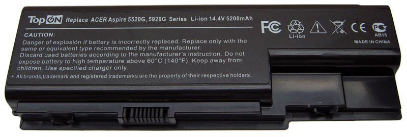Аккумуляторная батарея для ноутбука Acer Aspire 5520, 5720, 5920, 6530