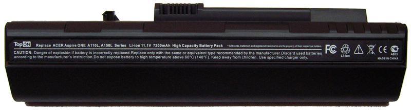 Аккумуляторная батарея для ноутбука Acer Aspire ONE 521, 531, 531h, 751, 751h, 752, ZA3, ZG8, ZGE, SP1 расширенный