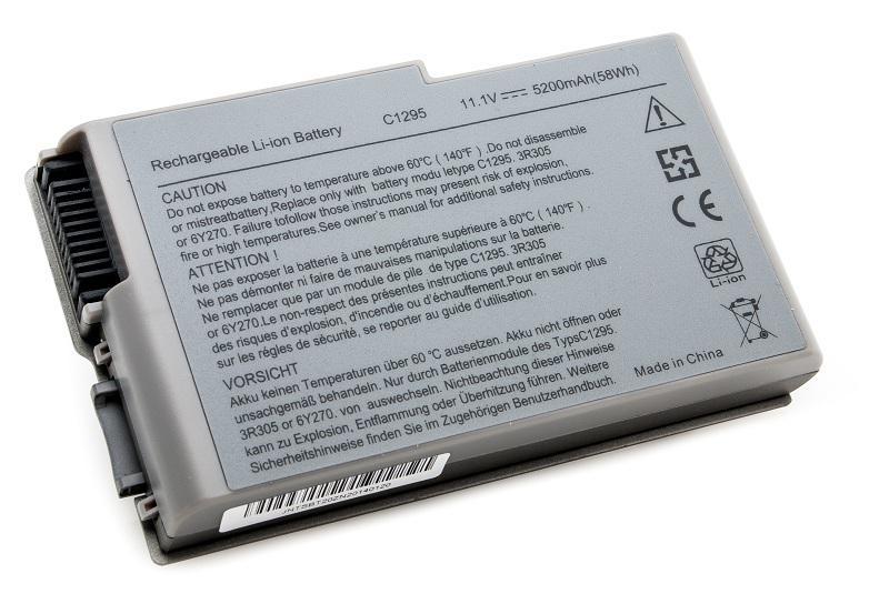 Аккумуляторная батарея для ноутбука Dell Inspiron 500m, 510m, 600m, Latitude D500, D505, D510, D520