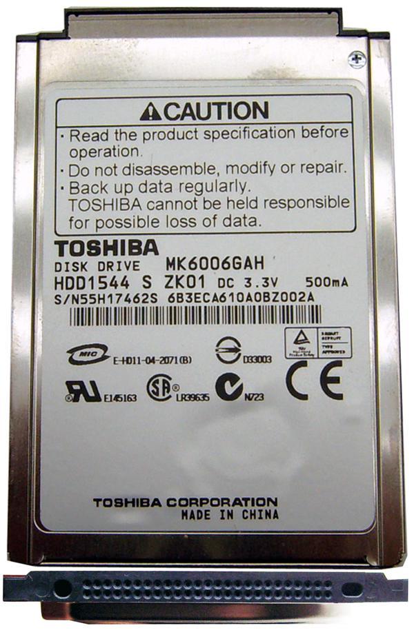 Жесткий диск для ноутбуков 1.8 60GB Toshiba MK6006GAH